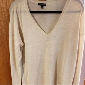 Ivory & Gold Soft Sweater
